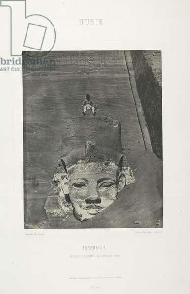 Detail of the Great Temple, Abu Sundul, Nubia, Egypt, 1852 (b/w photo)