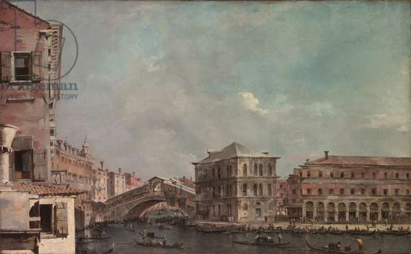 The Grand Canal above the Rialto, c.1760 (oil on canvas)