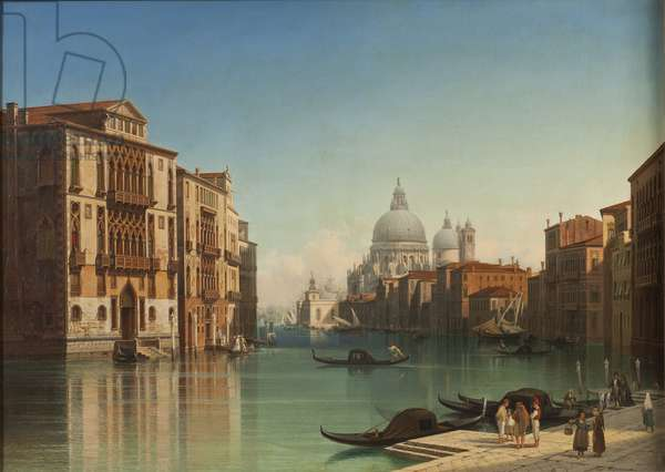 View of Canal Grande in Venice, 1860 (oil on canvas)