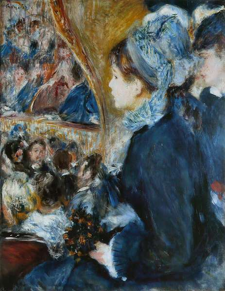 At the Theatre (La Premiere Sortie), 1876-7 (oil on canvas)