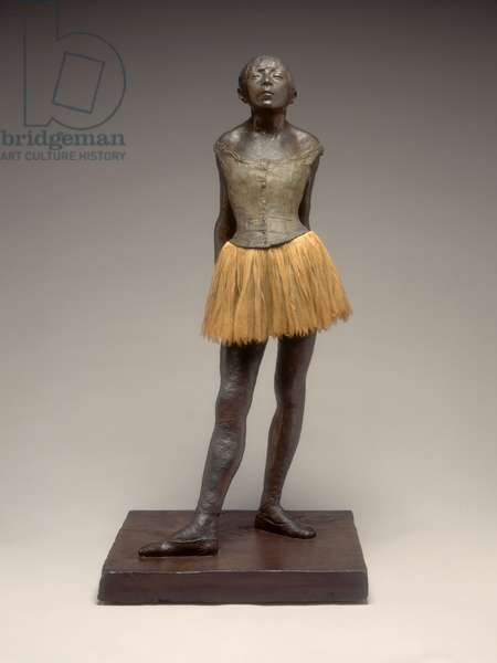 Little Dancer Aged Fourteen, c.1878-1881 (painted plaster, fabric, metal armature, on plaster base)