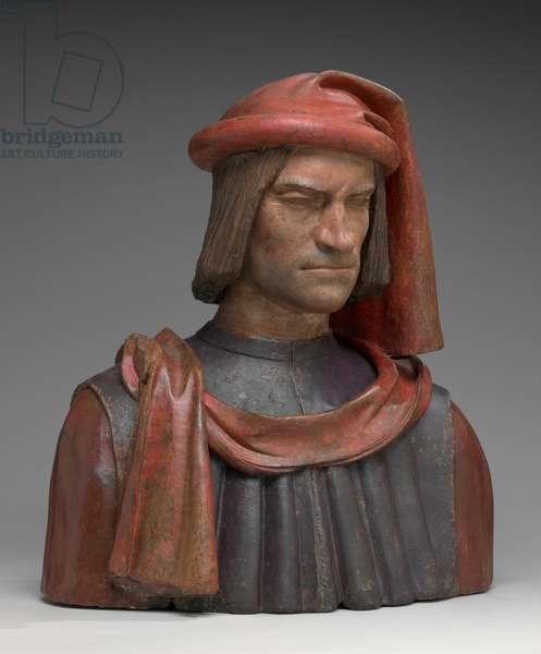 Lorenzo de Medici, c.1500 (painted terracotta)