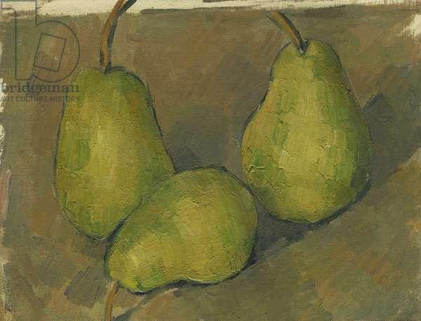Three Pears, 1878-9 (oil on canvas)