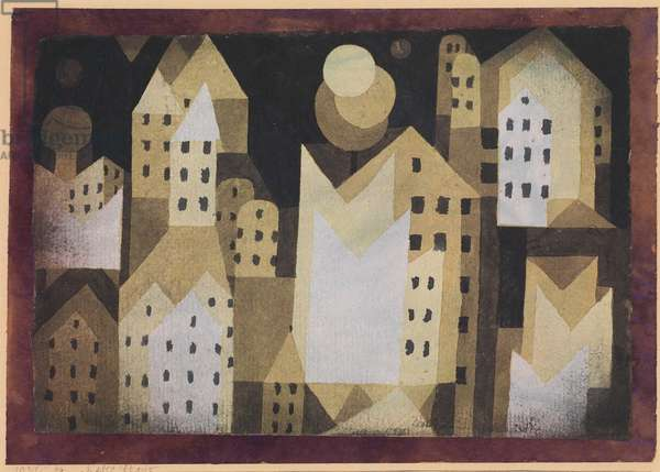 Cold City, 1921 (w/c on paper mounted on paper then cardboard)