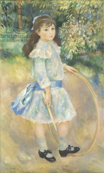 Girl with a Hoop, 1885 (oil on canvas)