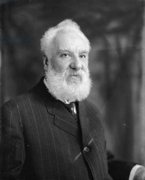 Alexander Graham Bell, Portrait, c.1920 (b/w photo)