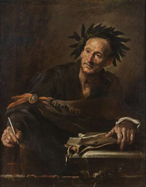 A Poet from Antiquity, c.1620-1 (oil on canvas)