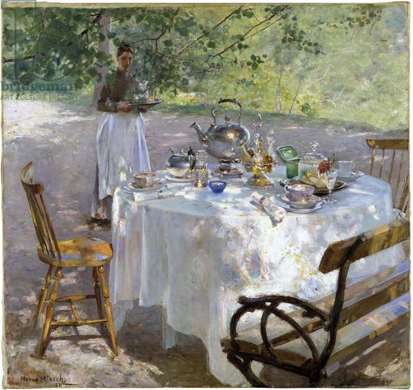 Breakfast Time, 1887 (oil on canvas)