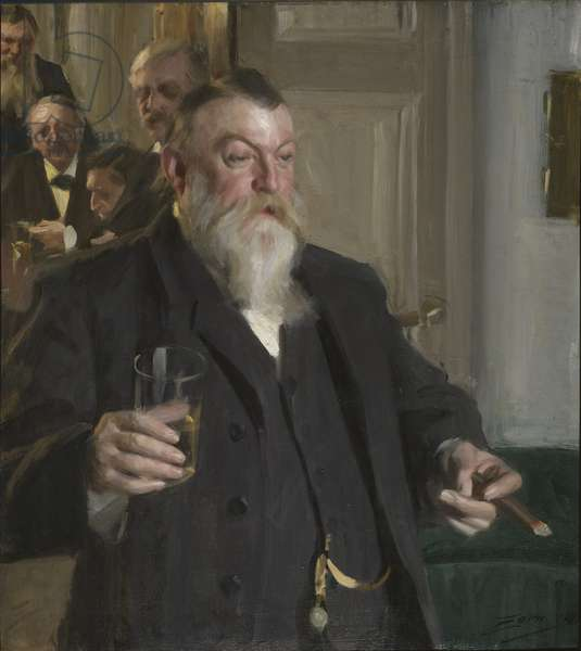 A Toast in the Idun Society, 1892 (oil on canvas)