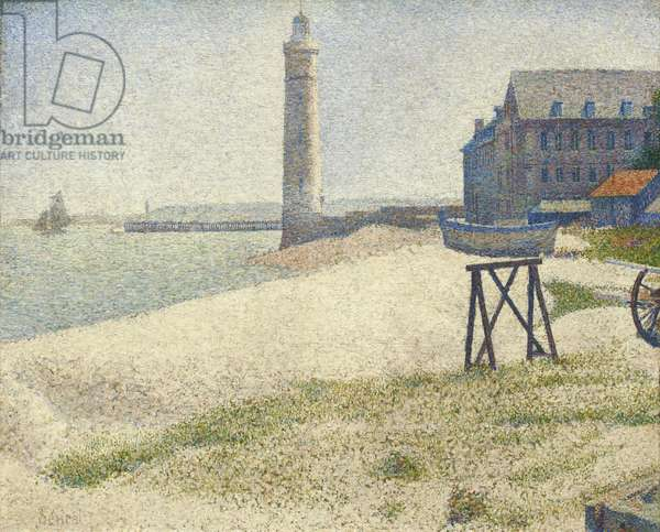 The Lighthouse at Honfleur, 1886 (oil on canvas)