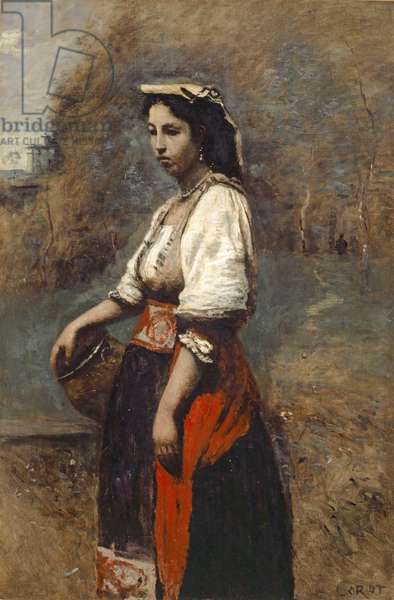 Italian Woman at the Well, 1865-70 (oil on canvas)