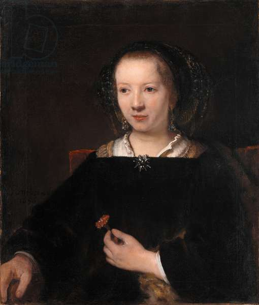 Young Woman with a Carnation, 1656 (oil on canvas)
