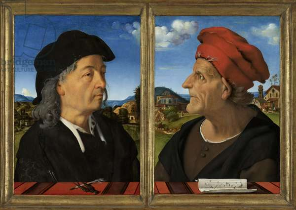 Portraits of Giuliano and Francesco Giamberti da Sangallo, 1482-5 (oil on panel)