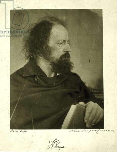 Alfred Tennyson, the Dirty Monk, 1865 (albumen print)