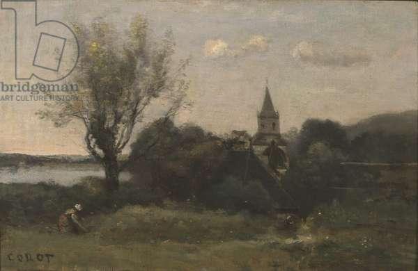 Ennery near Auvers (oil on canvas)