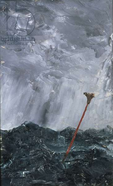 Stormy Sea Broom Buoy, 1892 (oil on paper)