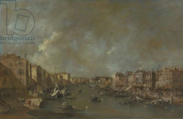 View of the Grand Canal from the Ponte di Rialto, after 1775 (oil on canvas)