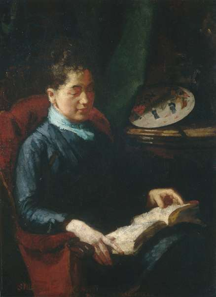 Woman Reading, 1879-84 (oil on canvas)
