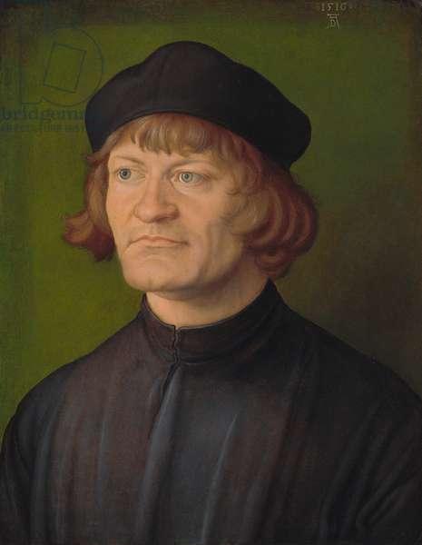 Portrait of a Clergyman (Johann Dorsch?), 1516 (oil on parchment on fabric)