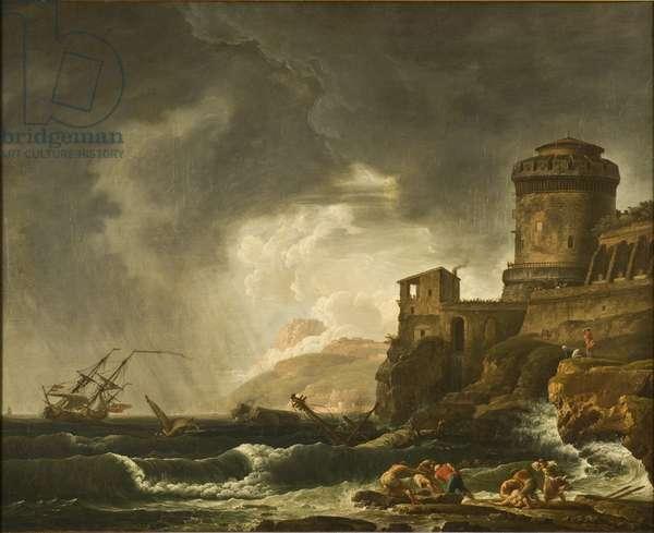A Shipwreck, 1750s (oil on canvas)
