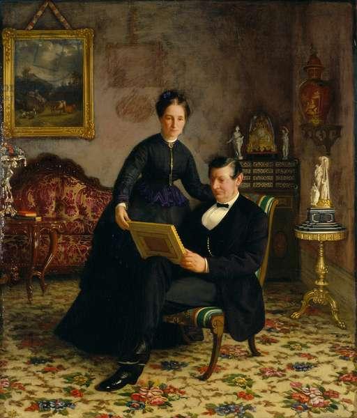 Mr Robert Constantin and Mrs Maria Eleonora Berggren (oil on canvas)