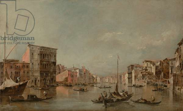 The Grand Canal in Venice with Palazzo Bembo, c.1768 (oil on canvas)