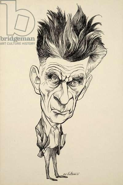 Samuel Barclay Beckett, 1969 (ink on board)