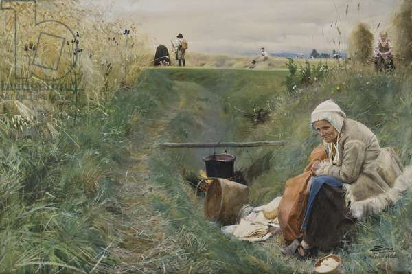 Our Daily Bread, 1886 (w/c on paper)