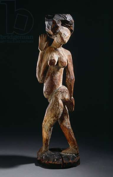 Dancer with necklace, 1910 (painted wood)