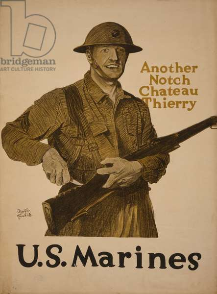Another notch Chateau Thierry - U.S. Marines, 1918 (colour lithograph)