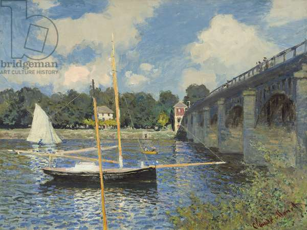 The Bridge at Argenteuil, 1874 (oil on canvas)