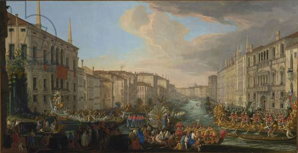 Regatta on the Grand Canal in Honor of Frederick IV, King of Denmark, 1711 (oil on canvas)