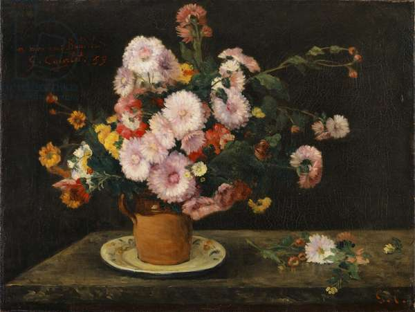 Bouquet of Asters, 1859 (oil on canvas)