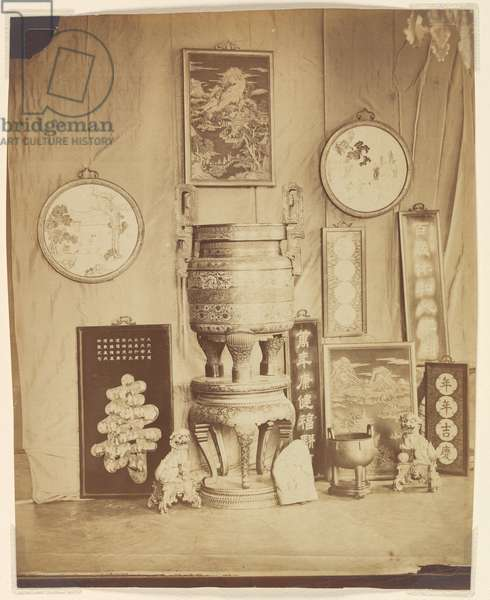 Art objects from the Summer Palaces, Beijing, 1861-63 (albumen print)