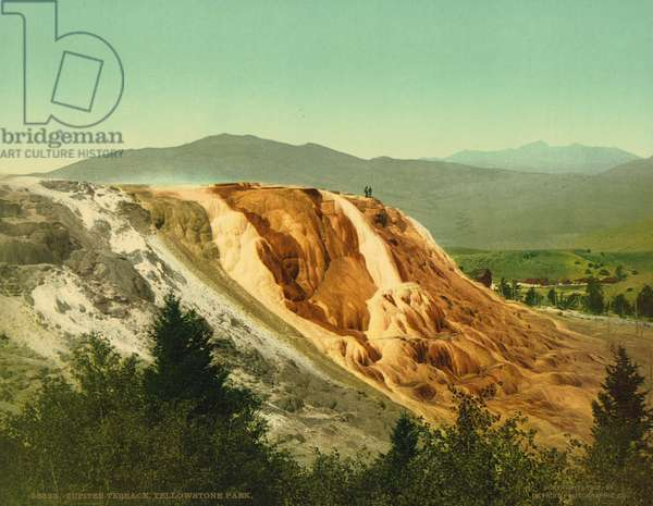 Jupiter Terrace, Yellowstone Park, c.1902 (photochrom)