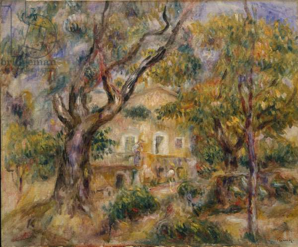 The Farm at Les Collettes, Cagnes, 1908-14 (oil on canvas)