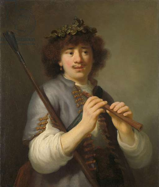 Rembrandt as Shepherd with Staff and Flute, 1636 (oil on canvas)