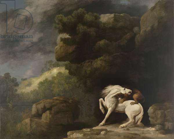 A Lion Attacking a Horse, 1770 (oil on canvas)