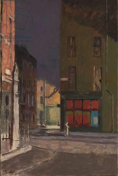 Maple Street, London, c.1915-23 (oil on canvas)