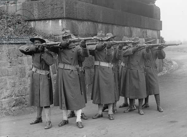 African American troops, 1917 (b/w photo)