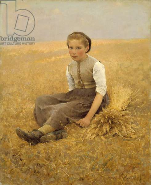 The Little Gleaner, 1884 (oil on canvas)