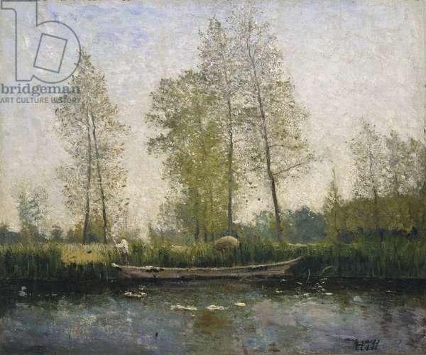 Seine. Motif from St Germain, 1877 (oil on canvas)