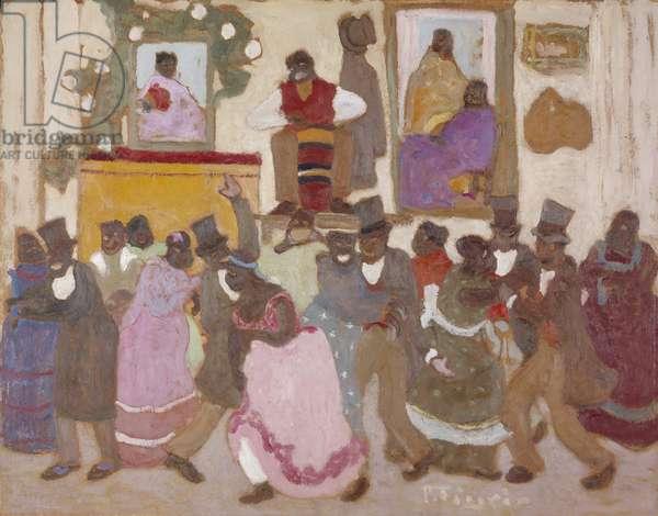 Dancing People: Candombe, c.1920 (oil on board)