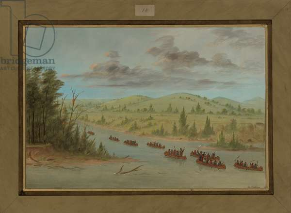 La Salle's Party Entering the Mississippi in Canoes, February 6th 1682, 1847-48 (oil on canvas)