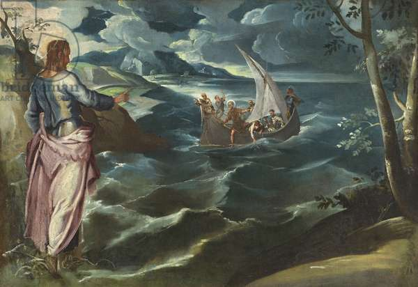 Christ at the Sea of Galilee, c.1575-80 (oil on canvas)