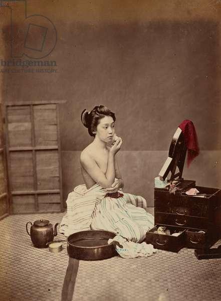 Japanese Toilet, c.1880 (photo)