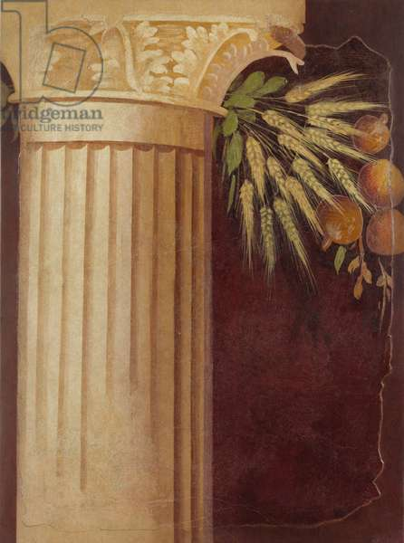 Wall painting fragment from the peristyle of a Villa at Boscoreale,  c.50–40 B.C. (fresco)