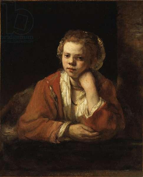 The Kitchen Maid, 1651 (oil on canvas)