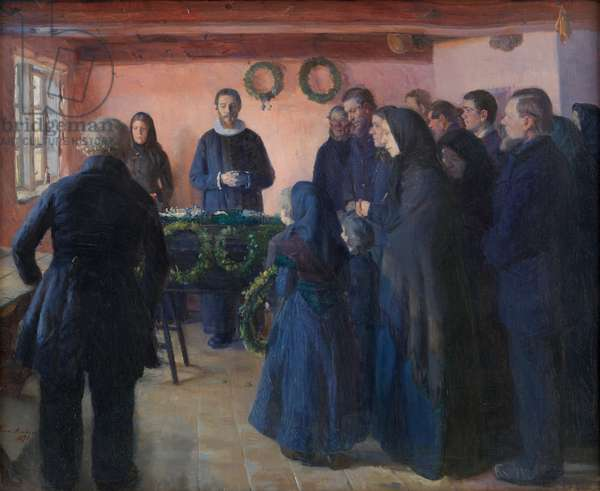 A Funeral, 1891 (oil on canvas)