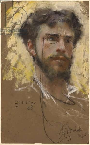 Self-portrait, 1877 (pastel and gouache)